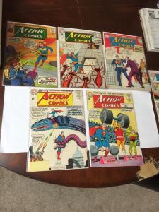 Action Comics 291 296 297 303 304 308 311 312 313 320 All 3.0-6.0