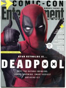 DEADPOOL - Entertainment Weekly, NM, Ryan Reynolds, 2015, more SDCC in store