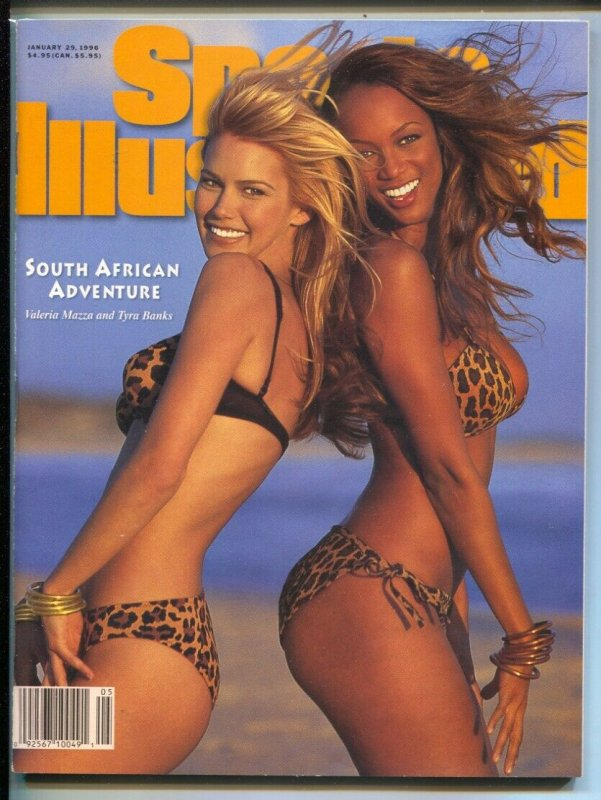 Sports Illustrated Swimsuit Issue 1/29/1996-Valeria Mazza-Tyra Banks-spicy pix-V