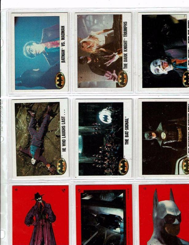 Mix Of 41 Batman Trading Cards/ Stickers Joker Jack Nicholson & Keaton 1989 J146