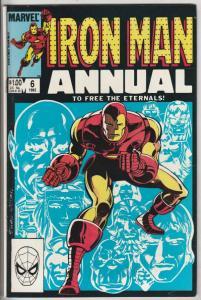 Iron Man Annual #6 (Jan-83) VF/NM- High-Grade Iron Man