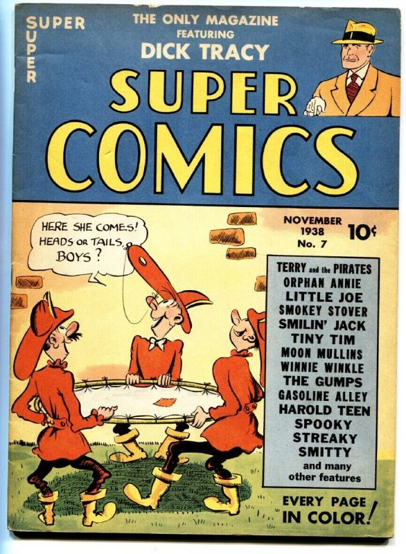 Super Comics #7 1938-DICK TRACY-ORPHAN ANNIE-Rare Golden-Age Comic