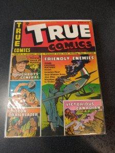 TRUE COMICS #38 GOLDEN AGE CLASSIC VG+/F
