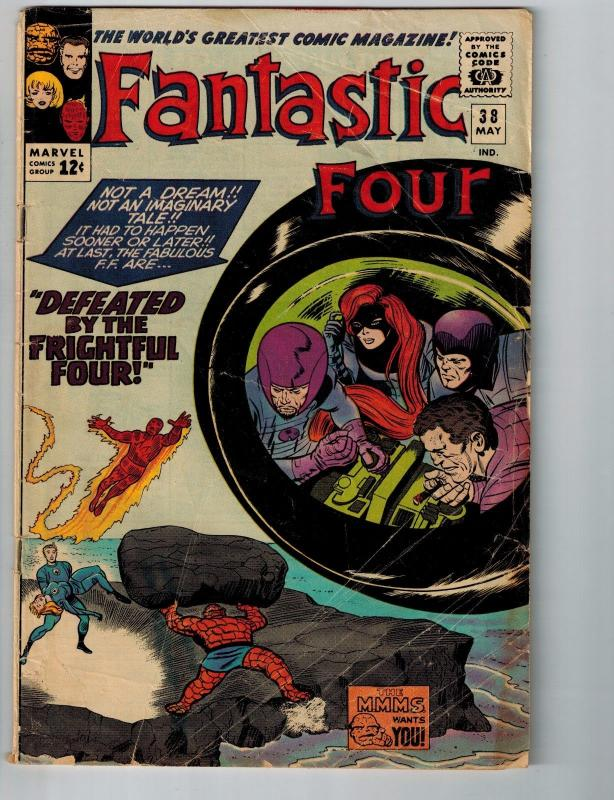 Fantastic Four # 38 VG Marvel Comic Book Jensen Prestige Collection Kirby S85