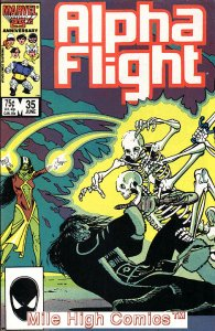 ALPHA FLIGHT (1983 Series)  #35 Very Fine Comics Book