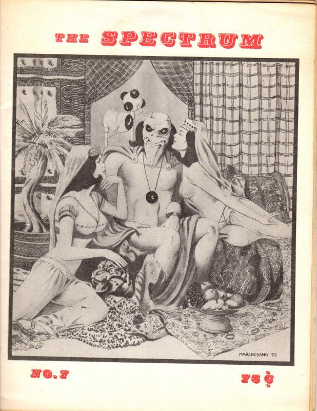 The Spectrum #7 Jan-Feb 1973 Marchesano Anthology Klaus Janson Backcover