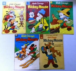 Golden Age Dell Walt Disney Mickey Mouse Comic Lot, 5 Different, Very Good