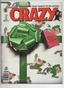 CRAZY #71 Magazine, FN, Obnoxio the Clown, Blues Brothers, 1973 1981, Marvel