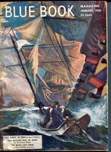 BLUE BOOK PULP-JAN 1950-G-WOODWARD COVER-NELSON BOND-JOEL REEVE-LEWIS G