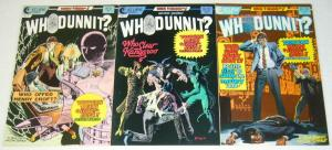 Whodunnit? #1-3 VF/NM murder mystery comics CAN YOU FIGURE IT OUT eclipse set