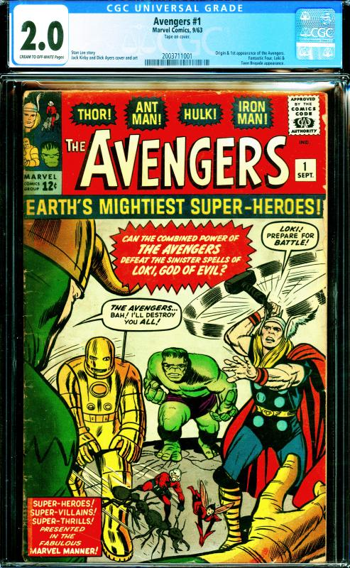 Avengers #1 CGC Graded 2.0 Origin and 1st Appearance of the Avengers