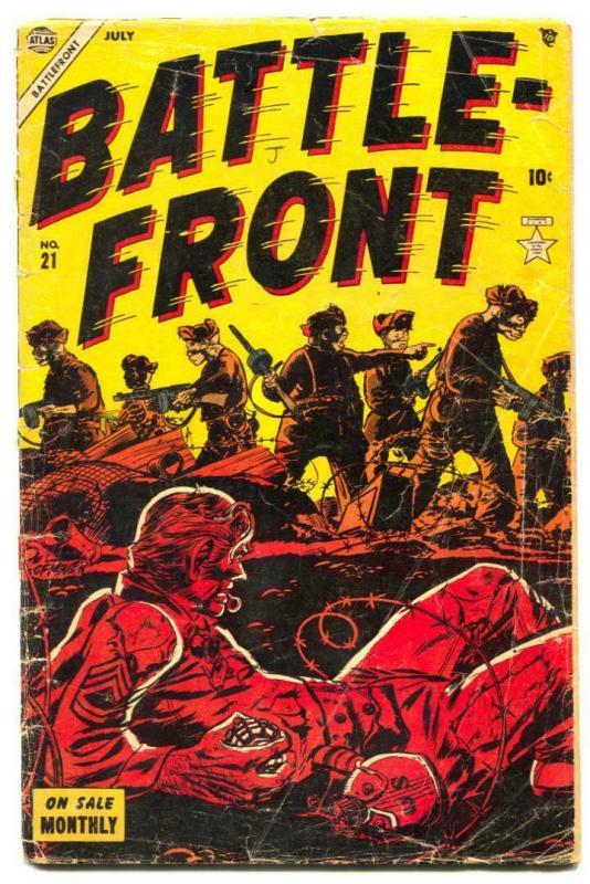 Battlefront #21 1954- Commies- Atlas War comic G