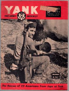 Yank 6/23//1944-Army Weekly-Sad Sack-Peggy Corday-Merrick's Marauders-VG