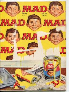 Mad Magazine-#148-1972-Mort Drucker-Don Martin-Bob Clarke-Peanuts Aged-VF