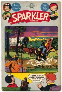 Sparkler #99 1951- Golden Age- Nancy- Captain & the Kids