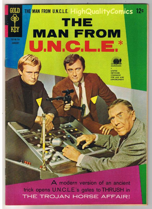 MAN from U.N.C.L.E. #10, VF, Vaughn, Photo, Gold Key, 1965, more in store