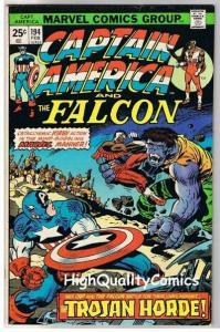 CAPTAIN AMERICA #194, FN+, Jack Kirby, Falcon, 1968, more CA in store