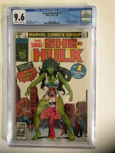 SHE-HULK [THE SAVAGE] CGC 9.6 OW/W MARVEL 1980 / NEWSSTAND / NEW CASE