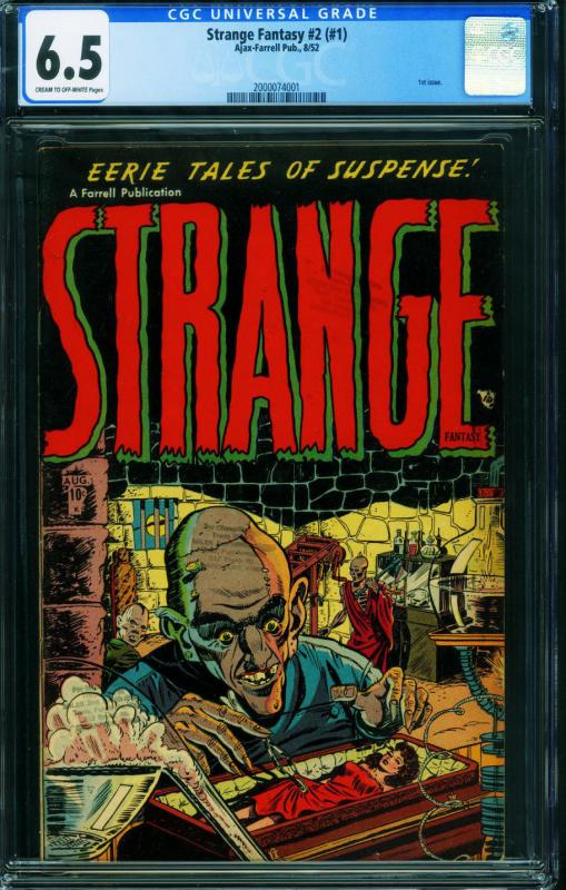 Strange Fantasy #2 (#1) CGC 6.5-Ajax/Farrell-pre-code horror 2000074001