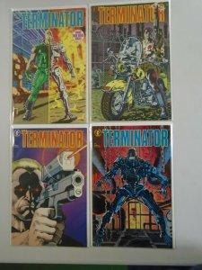 Terminator set #1-4 8.0 VF (1990 1st Dark Horse Series)