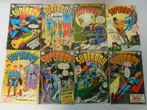 Superboy lot 17 different 15c covers from #158-176 avg 4.0 VG (1969-71)