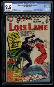 Superman's Girl Friend, Lois Lane #70 CGC GD+ 2.5 1st Silver Age Catwoman!