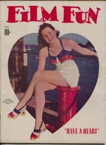 Film Fun 3/1941-Helen Parrish-Betty Grable-Joan Blondell-Slenderella-VG
