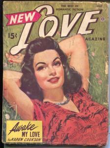 New Love 7/1943-Popular-pulp romance-exotic GGA cover-Peggy Gaddis-VG