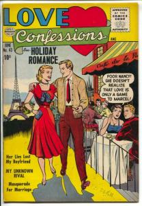 Love Confessions #43 1955-Quality-Eiffel Tower-spicy panels-VF
