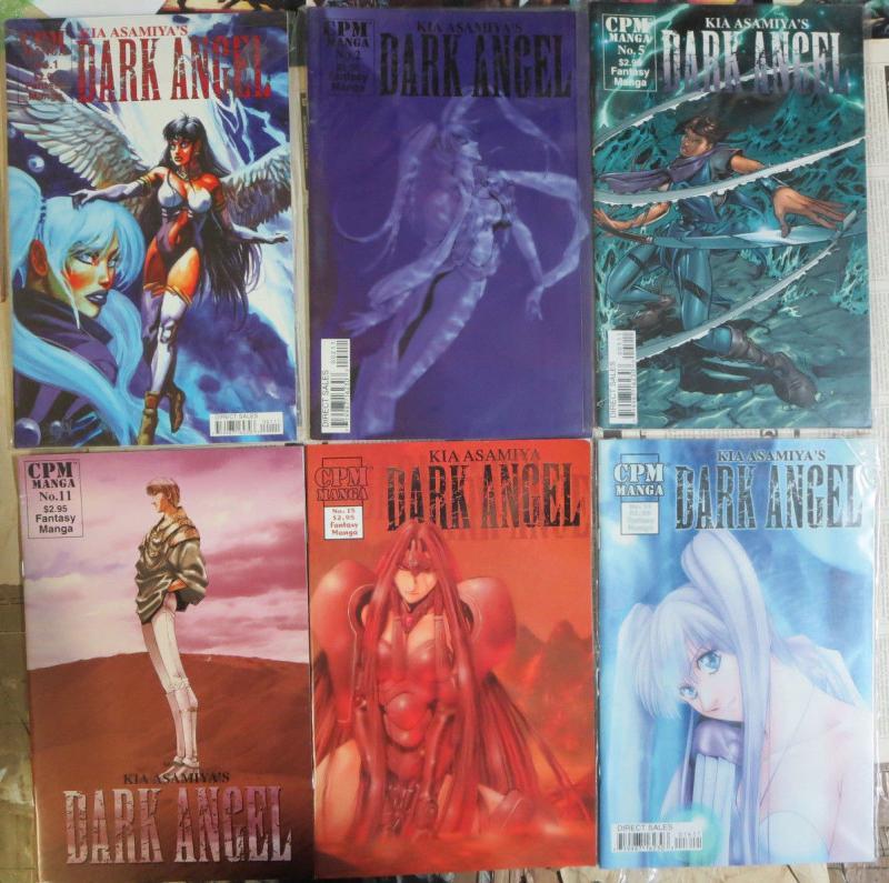 Kia Asamiya's Dark Angel #1-29 Lot of 15Diff Manga Sword Sorcery & Angel Babes!