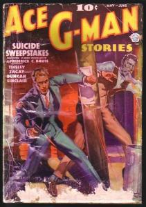 ACE G-MAN STORIES-1936 MAY/JUN-FIRST ISSUE!!! FR