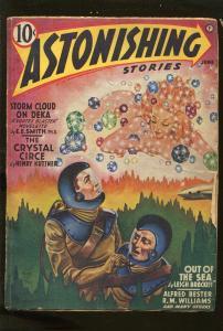 ASTONISHING STORIES 6/1942-PULP FICTION-E E SMITH-HENRY KUTTNER-BRACKETT-vg