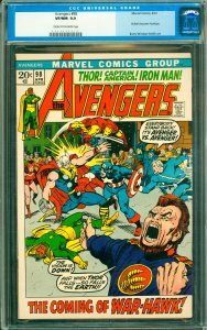 Avengers #98 CGC Graded 9.0 Goliath becomes Hawkeye.