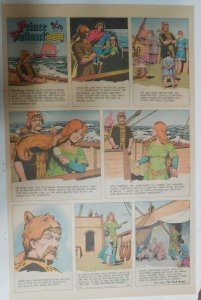 Prince Valiant Sunday #1651 by Hal Foster from 9/29/1968 Rare Full Page Size !