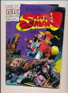 PC Comics SKATE MAN #1, Neal Adams Lot of 2 Shrink Wrapped comics ~ VF+ (HX880)