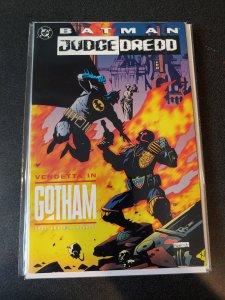 Batman Judge Dredd Vendetta in Gotham Trade Paperback TPB DC Dark Knight Mignola