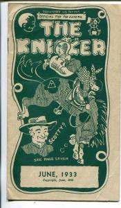 The Kicker 6/1933-pre comic book promo giveaway-Western-3 3/4 X 6 3/4-VG