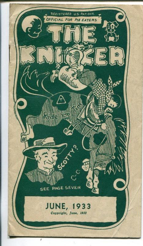 The Knicker 6/1933-pre comic book promo giveaway-Western-3 3/4 X 6 3/4-VG