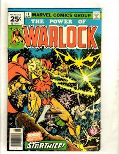 Warlock # 14 VF Marvel Comic Book Starthief Avengers Hulk Thor Iron Man Wasp HY1