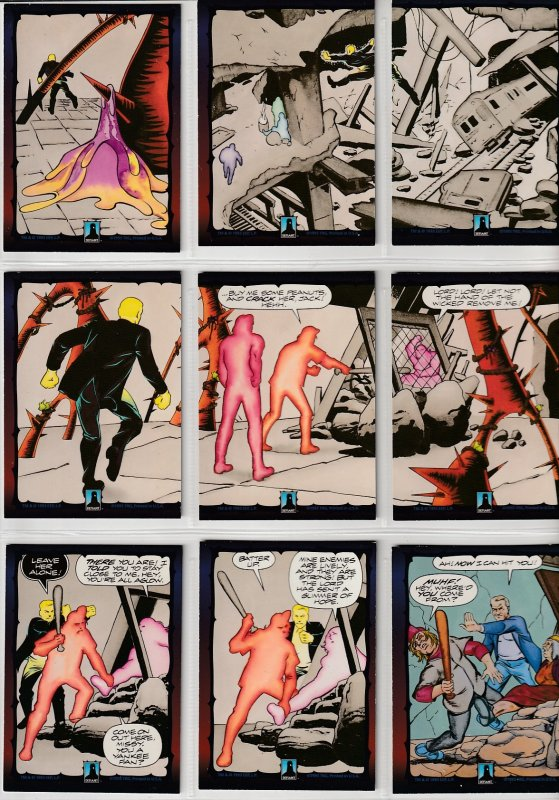 Dark Dominion # 0 Trading Cards  Rare Steve Ditko painted art ! Complete Set + 1