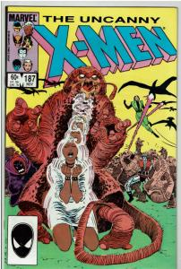 X-Men #187, 9.0 or Better 1st Appearance of Naze