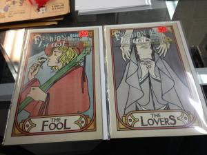 Fashion Beast 1-8 NM Incentive Tarot Variant covers Alan Moore