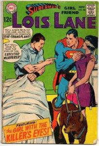 SUPERMAN'S GIRL FRIEND LOIS LANE #88, VG-, Killer's Eyes