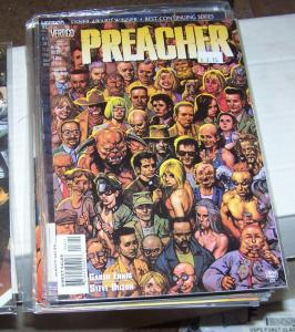 preacher  #56 vertigo dc 1999 garth Ennis high quality  PAINTED COVER BY FABRY
