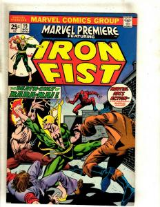 Marvel Premiere # 19 VF/NM Comic Book Feat. Iron Fist Karate Defenders RS1