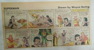 Superman Sunday Page #1118 by Wayne Boring from 3/19/1961 Size ~7.5 x 15 inches