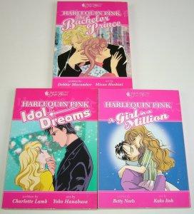 Harlequin Pink lot of (3) VF/NM complete set - dark horse manga - idol dreams