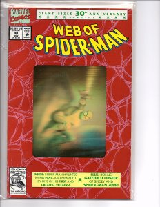 Marvel Comics (1985) Web of Spider-man #90 2nd Print Gold Hologram Cover