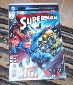 SUPERMAN   # 7 2011 NEW 52 DC HELSPONT RISING