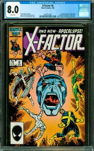 X-Factor #6 CGC Graded 8.0 1st full appearance of Apocalypse (En Sabah Nur). ...